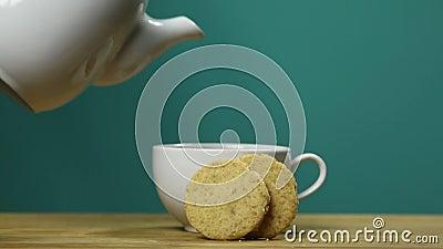 Kakor och tea lager videofilmer