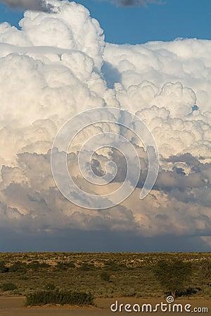 Kalahari cumulus clouds
