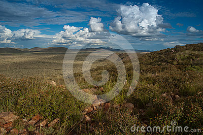 Kalahari mountains and valley