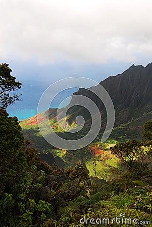 Free Kalalau Valley Overlook, Kauai (Hawaiian Islands) Stock Images - 11056414