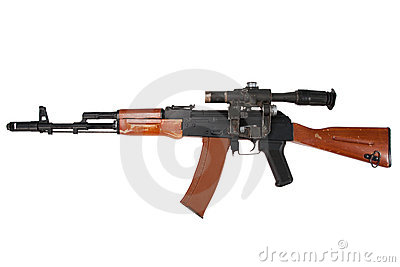 Kalashnikov ak74 with sniper scope