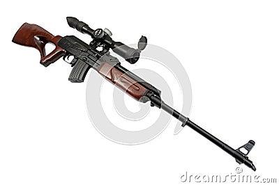 Kalashnikov based sniper rifle
