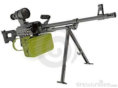 Kalashnikov modernized machine gun with night sigh