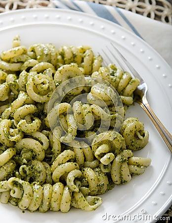 Free Kale Walnut Pesto Pasta Cavatappi Royalty Free Stock Photos - 75921198