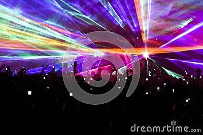 Kaleidescope laser light show