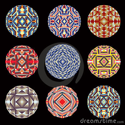 Kaleidoscope color circles