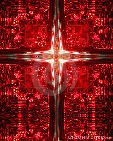 Kaleidoscope Cross:  car taillight