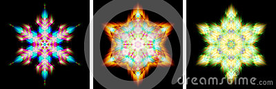 Kaleidoscope design like snow crystal