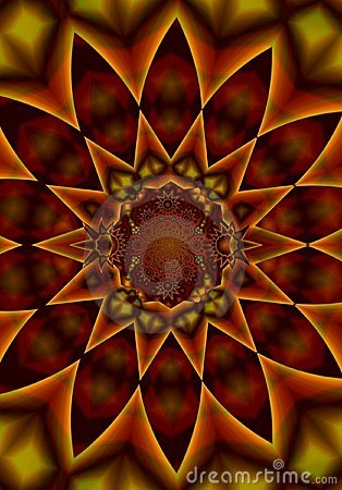 Free Kaleidoscope Pattern In Reds Stock Photography - 2100522