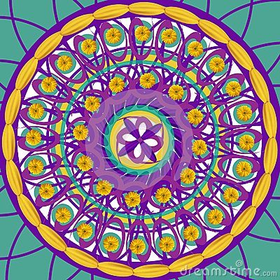 Mandala drawing sacred circle