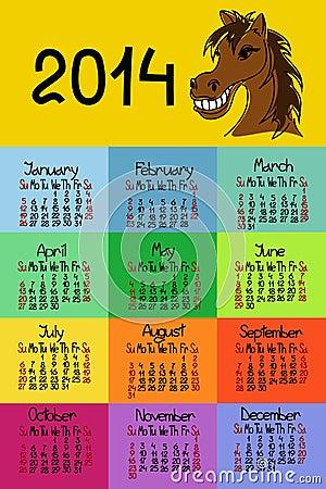 Kalendarz 2014 z koniem