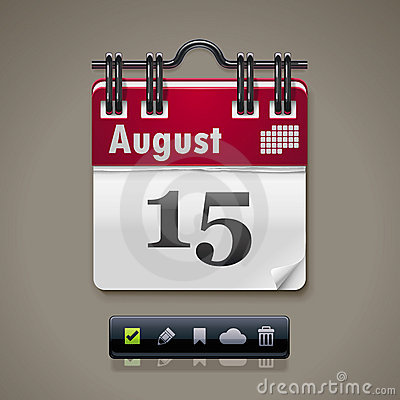 Kalendarzowa wektor ikona XXL