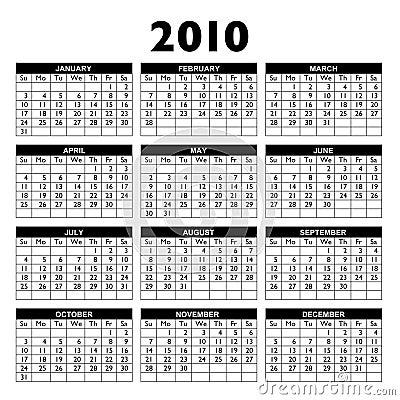 Kalender 2010 stock foto afbeelding 8288060 for Calendario 2015 ministerio del interior