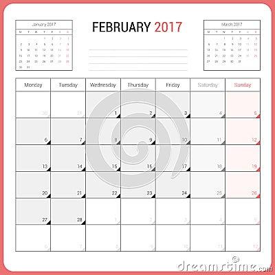 Kalender-Planer für die