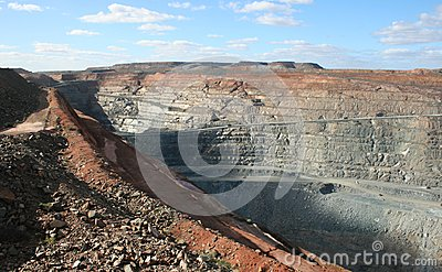 Kalgoorlie Pit Mine superbe, Australie occidentale