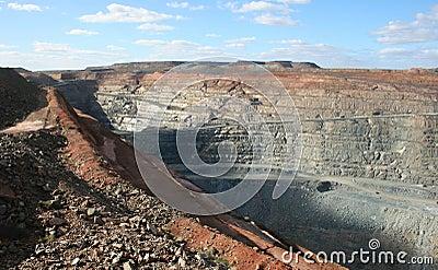 Kalgoorlie toppna Pit Mine, västra Australien