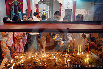 Kali worship Celebrations in West Bengal Editorial Image