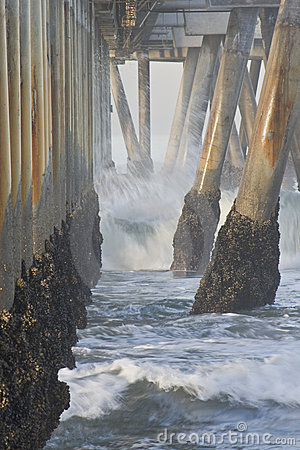 Kalifornien för 02 strand pir venice