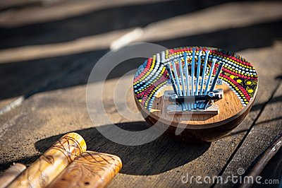 Kalimba thumb piano wooden musical instrument