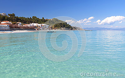 Halkidiki summer resort in Greece