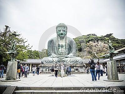 Ο μεγάλος Βούδας Kamakura Εκδοτική Στοκ Εικόνα