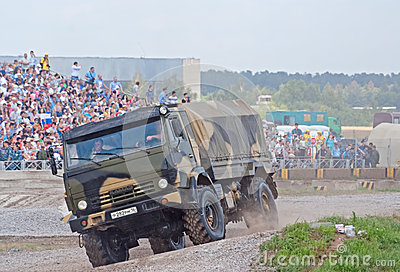 KAMAZ-43501 airborne forces truck Editorial Photography