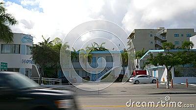 Kamery wideo z kamerą w Hotelu New Yorker Miami Florida zbiory wideo