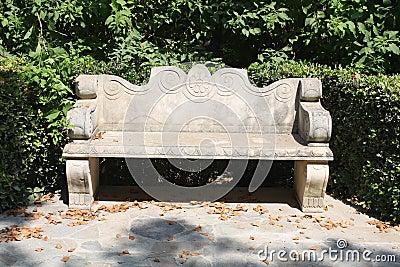 Kamienna ławka