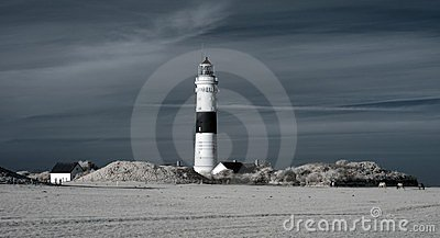 Kampen lighthouse. Infrared.