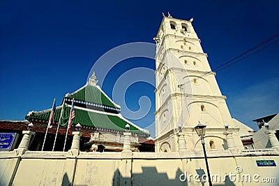 Kampung Kling Mosque (Masjid Kampung Kling) Editorial Stock Photo