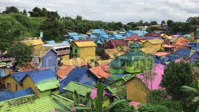 Kampung Warna em Malang, Indonésia video estoque