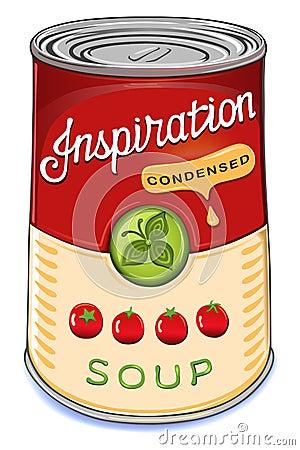 Kan van de gecondenseerde Inspiratie van de tomatensoep