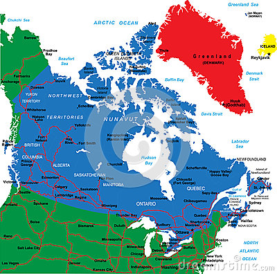 Kanada-Karte