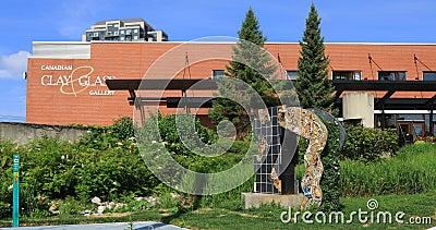 Kanadensiskt lera- och gasgalleri i Waterloo, Kanada 4K arkivfilmer