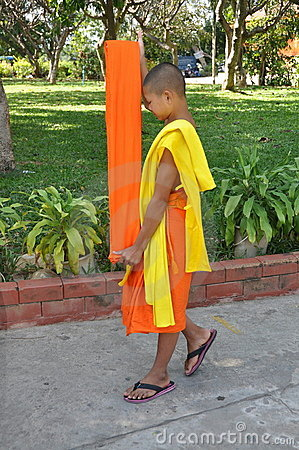 Kanchanaburi, Thailand: Student Monk Editorial Photography