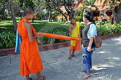 Kanchanaburi, Thailand: Young Monks Editorial Image