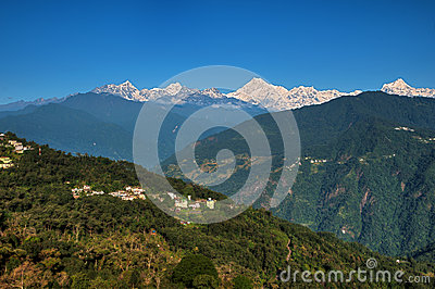 Kanchenjunga range from Gangtok