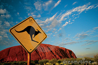 Kangaroo Ayers Rock Editorial Photo