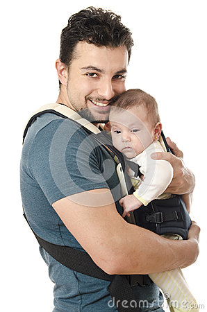 Kangaroo carrier dad royalty free stock photography for Daddy carrier