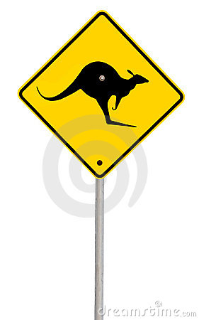Kangaroo Sign (with Path)