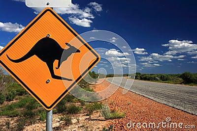 Kangaroo Warning Sign,Western Australia