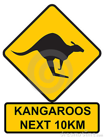 Free Kangaroos Ahead Royalty Free Stock Photo - 294845