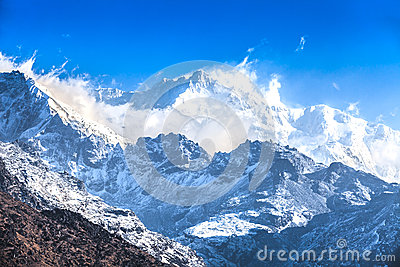 Kangchenjunga is the third highest mountain