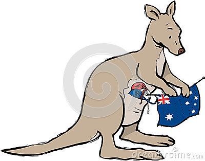 Kangoeroe die Australië breien