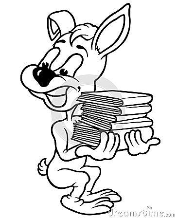 Kaninchen und Bücher