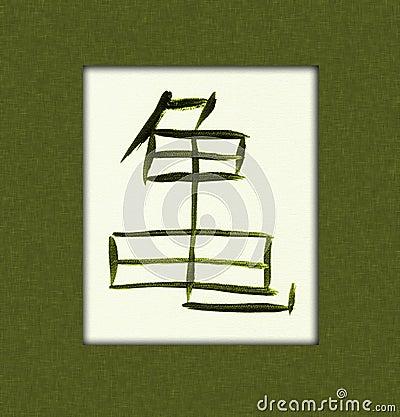 Kanji χελώνα