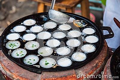 Kanom krok , kind of Thai sweetmeat