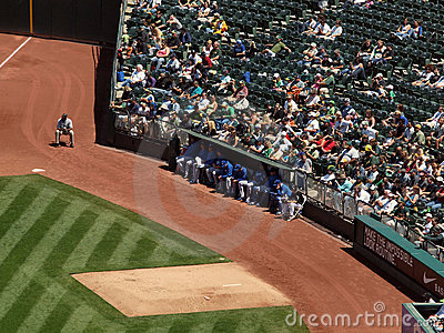 Kansas City Royals pitchers sit the the bullpen Editorial Stock Photo