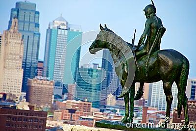 Kansas City Scout Statue Editorial Photo