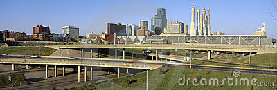 Kansas City skyline Editorial Stock Photo